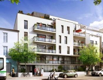 Prespective programme immobilier Villa Onda Nantes